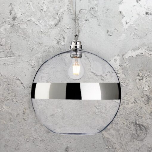 Chrome Glass Ball Pendant Light