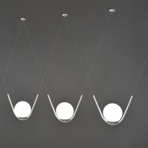 Chrome Globe Pendant Feature Lights