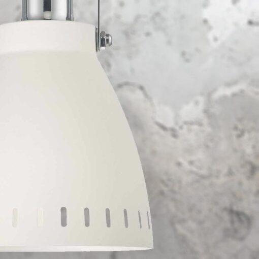Chrome White Pendant Light