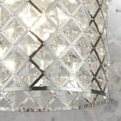Clear Crystal Glass Pendant Light