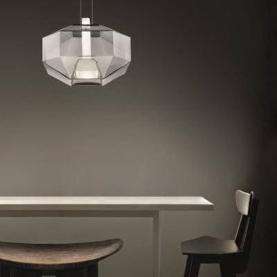 Clear Glass Geometric Pendant Light