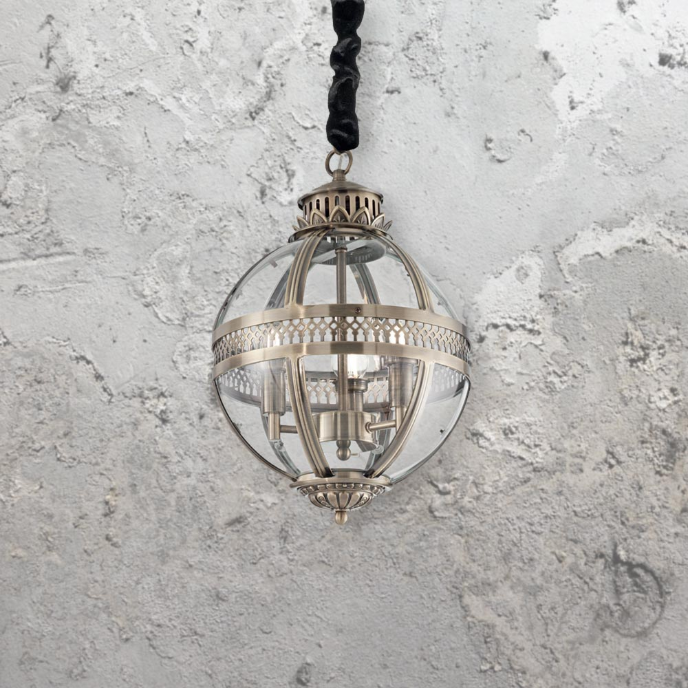 Clear glass orb chandelier cl 35492 5