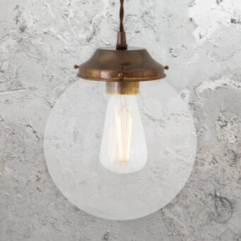 Clear Globe Pendant Light 200mm