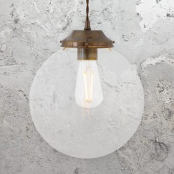 Clear Globe Pendant Light 250mm