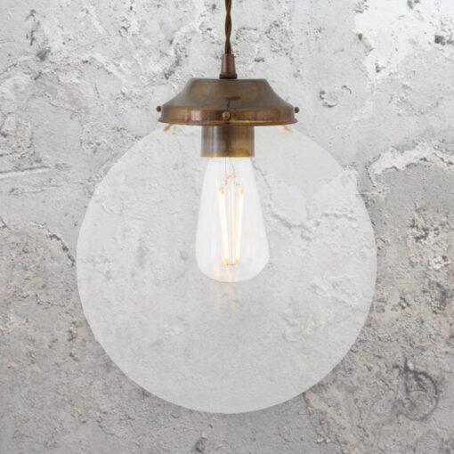 Clear Globe Pendant Light 250mm