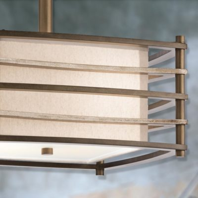 Bronze Square Semi Flush Light
