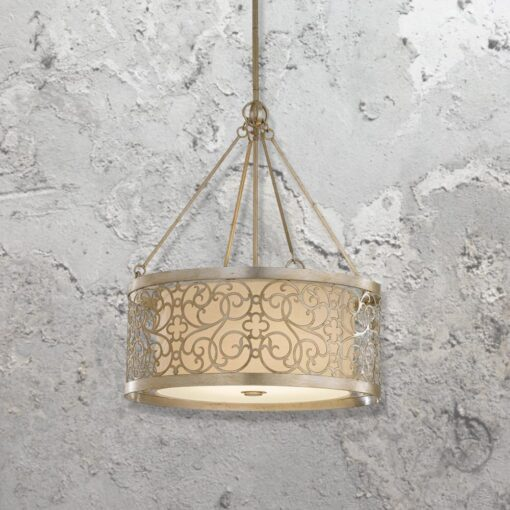 Linen 4 Light Semi Flush