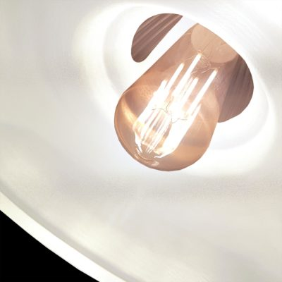Close Up White Glass Pendant Light