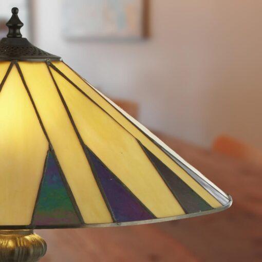 Colonial Tiffany Table Lamp