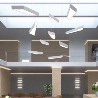 Commercial LED Geometric Pendant Light