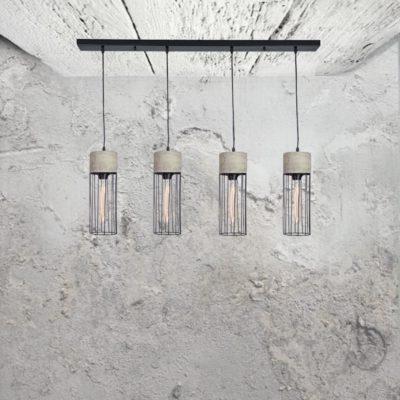 Concrete 4 Light Pendant CL-32512