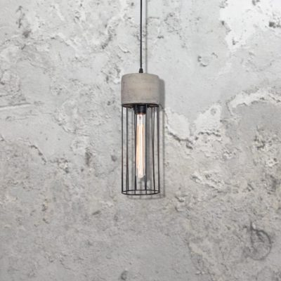 Concrete Caged Pendant CL-32519