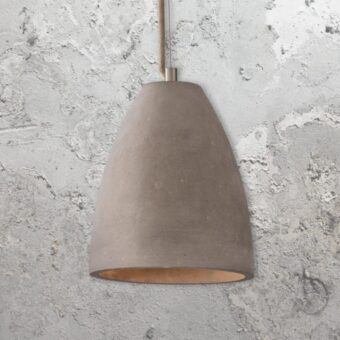 Concrete Dome Pendant Light