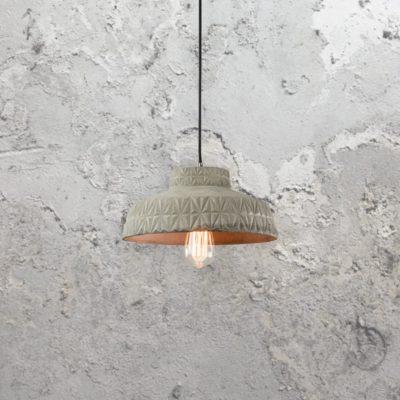 Concrete Etched Pendant Light