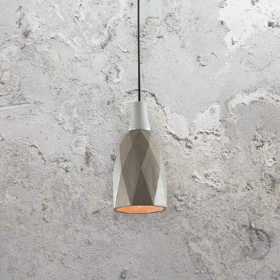 Concrete Geometric Pendant Light