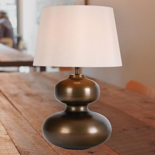Contemporary Antique Brass Table Lamp Base