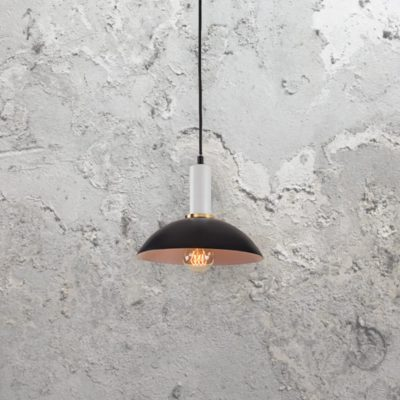 Contemporary Black & White Pendant Light