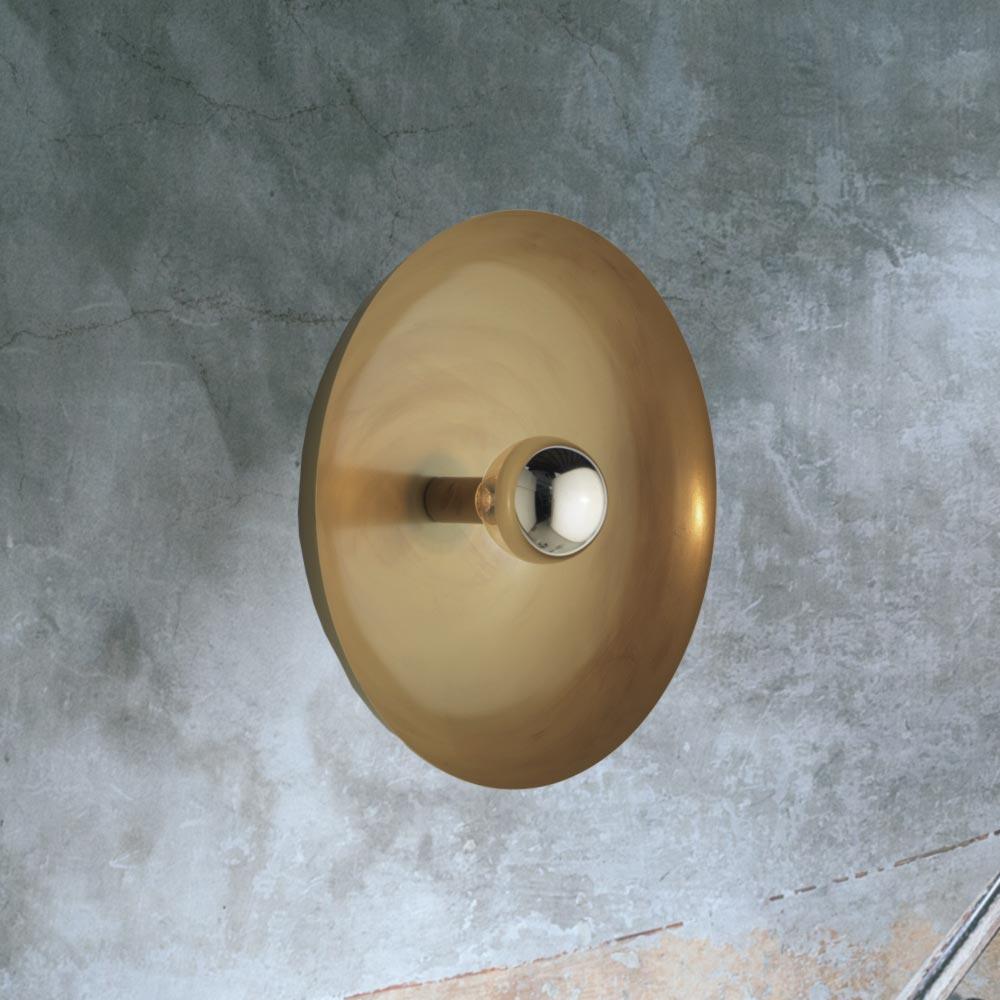 Contemporary Brass Round Wall Light E2 Contract Lighting Uk
