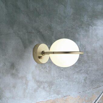 Contemporary Opal Globe Wall Light