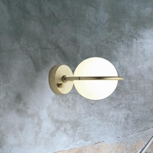 Contemporary Opal Globe Wall Light
