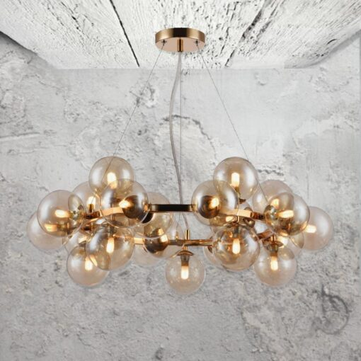 Contemporary Ring Globe Chandelier