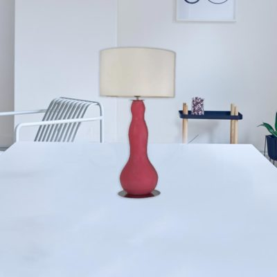 Contemporary Shaped Glass Table Lamp