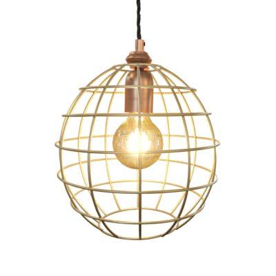 Copper Brass Cage Pendant Light