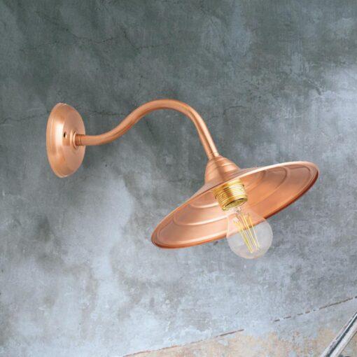 Copper Brass Swan Neck Wall Light