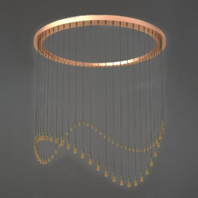 Copper Cluster Ring Pendant Lights