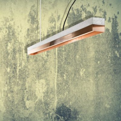 Copper Concrete Commercial Lighting