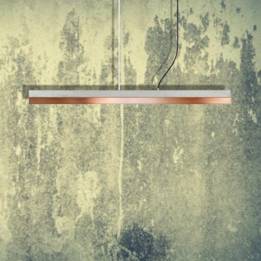 Copper Concrete Commercial Pendant Light