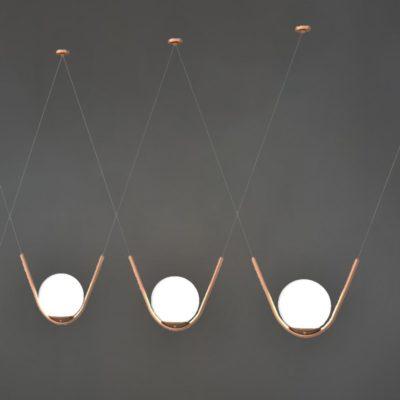 Copper Globe Pendant Feature Lights