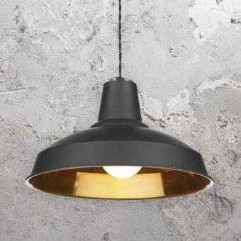 Copper Inner Industrial Pendant Light