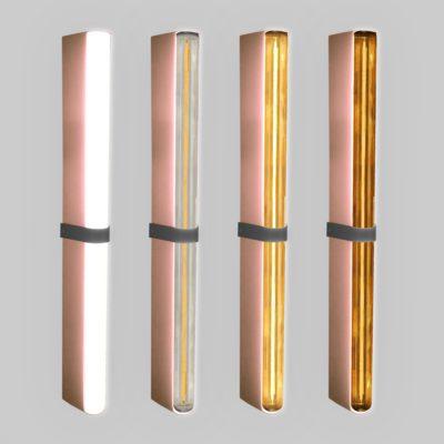 Copper LED Tube Wall Light