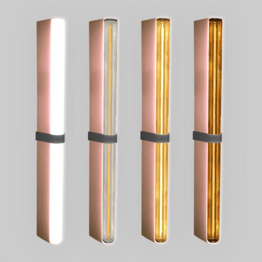 Copper LED Tube Wall Light
