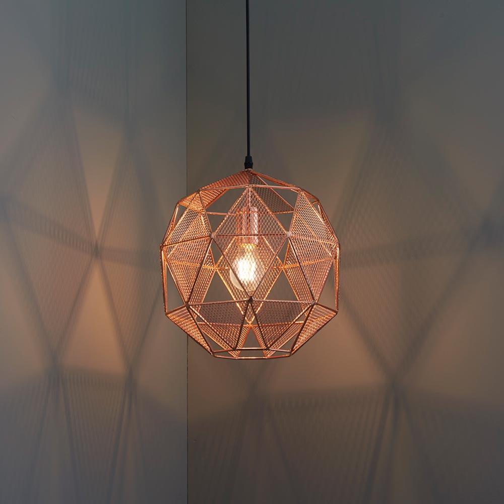 Copper mesh pendant light cl 33615 6