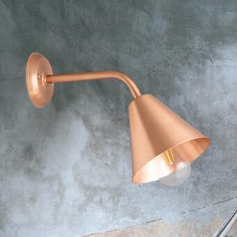 Copper Minimal Industrial Wall Light