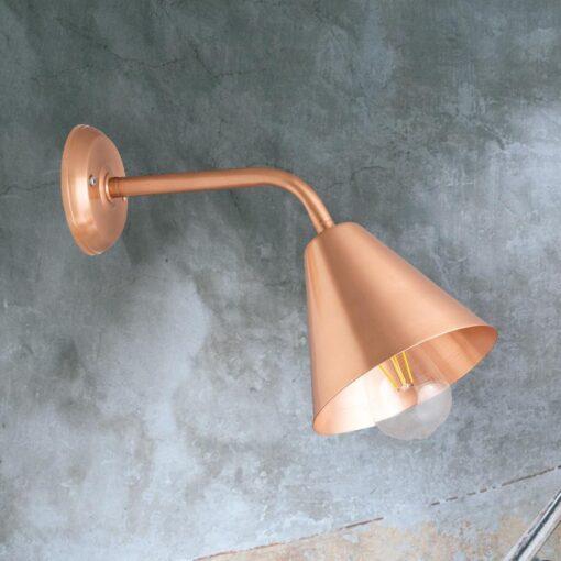 Copper Minimal Industrial Wall Light