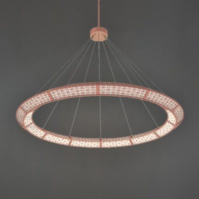 Copper Moroccan Ring Chandelier