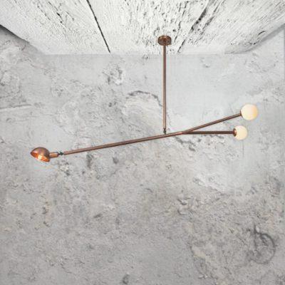 Copper Multi Pendant Lights,3 light adjustable copper fitting