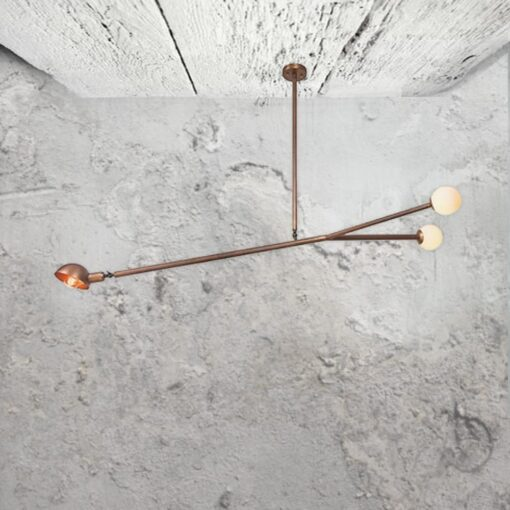 Copper Multi Pendant Lights,3 light adjustable copper fitting