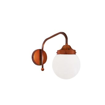 Copper Opal Globe Wall Light