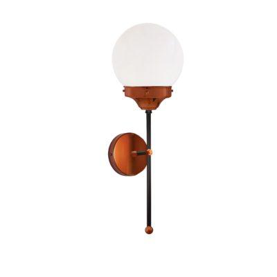 Copper Opal Globe Wall Light