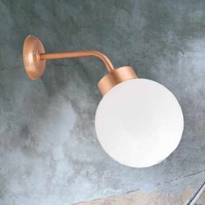 Copper Outdoor Globe Wall Lantern