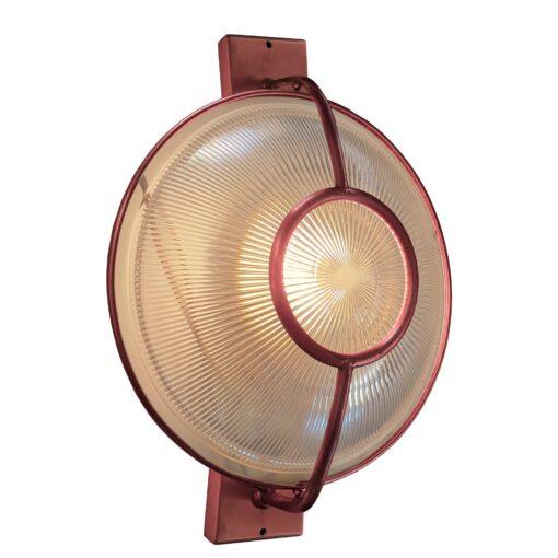Copper Prismatic Glass Dish Wall Light