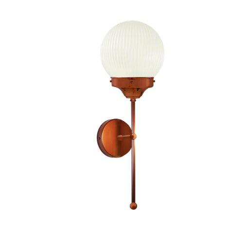 Copper Prismatic Globe Wall Light