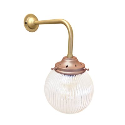 Copper Satin Brass Prismatic Globe Wall Light