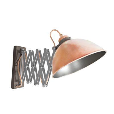 Copper Scissor Arm Wall Light Gunmetal Inner
