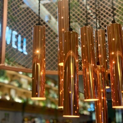 Copper Tube Pendant Lights