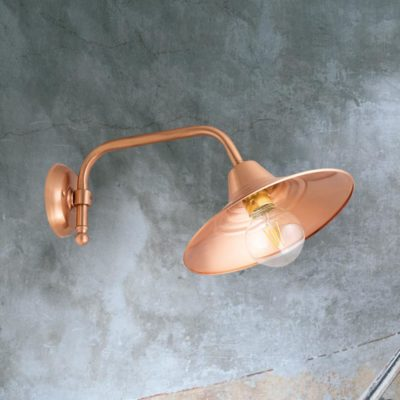 Copper Vintage Industrial Wall Light